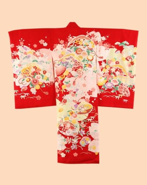 ピクチャーコレクションのお宮参り用の掛け着物4 女児用